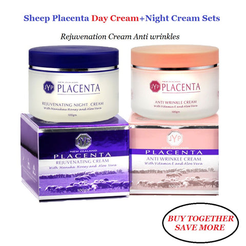 2 in 1 Sheep Placenta Anti Wrinkle Day Cream + Night Face Cream - ShopFanZone