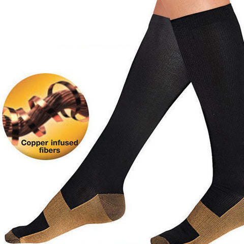 Miracle Copper Anti-Fatigue Compression Socks  Support Knee High Stockings