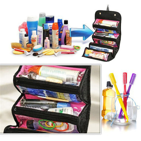 Multifunctional Hanging Makeup Travel Organizer Cosmetic Carry On Case