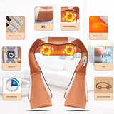 Infrared Therapy Neck Electric Massage Cape Back Waist Pain Relief Health Care Device