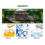 Hyaluronic Acid Serum Snail Essence Face Cream Skin Repair Treatment