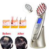 LED Photon Laser Rechargeable Hair Regrowth Brush Anti Hair Loss Comb