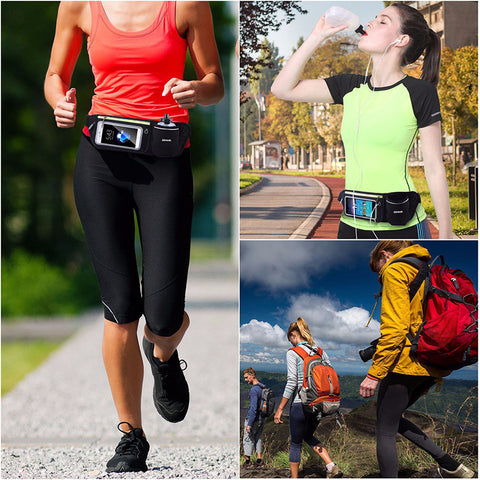 Waterproof Running Waist Bag Touchscreen Phone Case Fitness Run Bag
