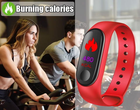 Dynamic Smart Band Waterproof 3D Fashionable Step Counting Heart Rate Monitor Bracelet