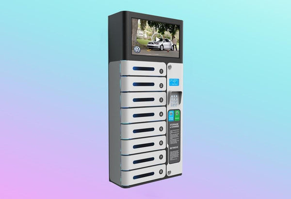 LINA PRO: Cell Phone Charging Locker with Display