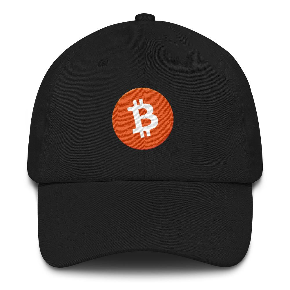 Bitcoin Logo Dad Hat-Black-CryptoClothe