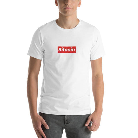 Bitcoin Subreme T-Shirt | Unisex-White-S-CryptoClothe