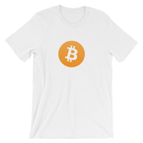Bitcoin T-Shirt With Logo | Unisex-White-S-CryptoClothe