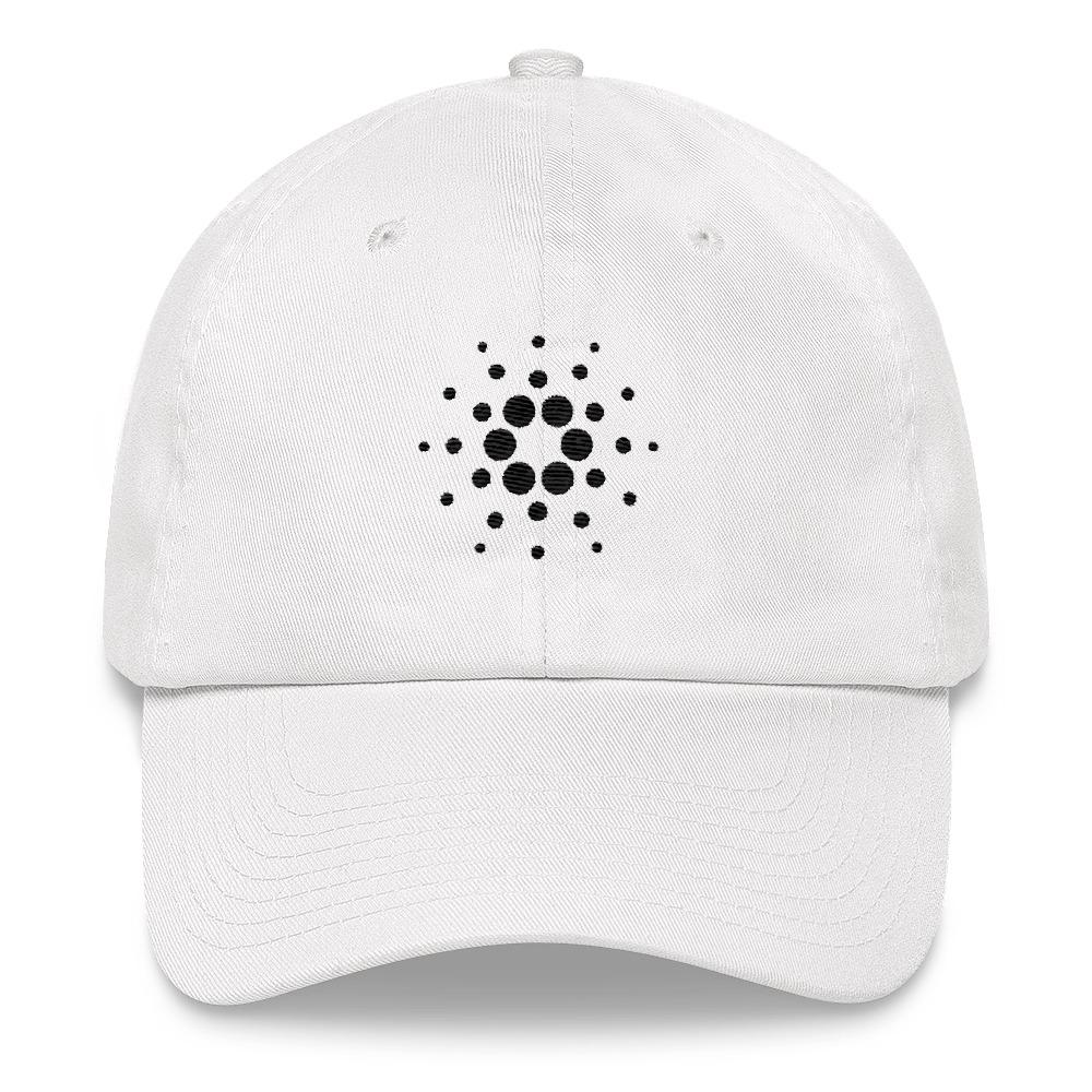 Cardano Dad Hat-White-CryptoClothe