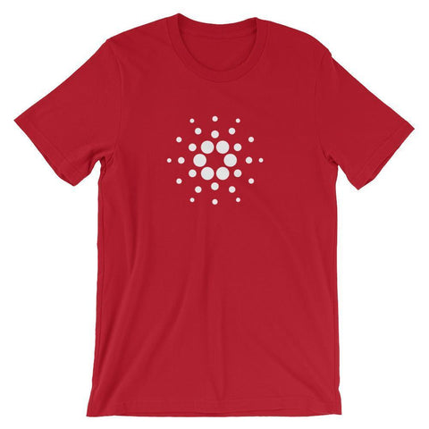 Cardano Logo T-Shirt | Unisex-Red-S-CryptoClothe