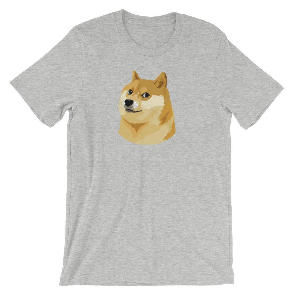 Dogecoin T-Shirt | Unisex-Athletic Heather-S-CryptoClothe