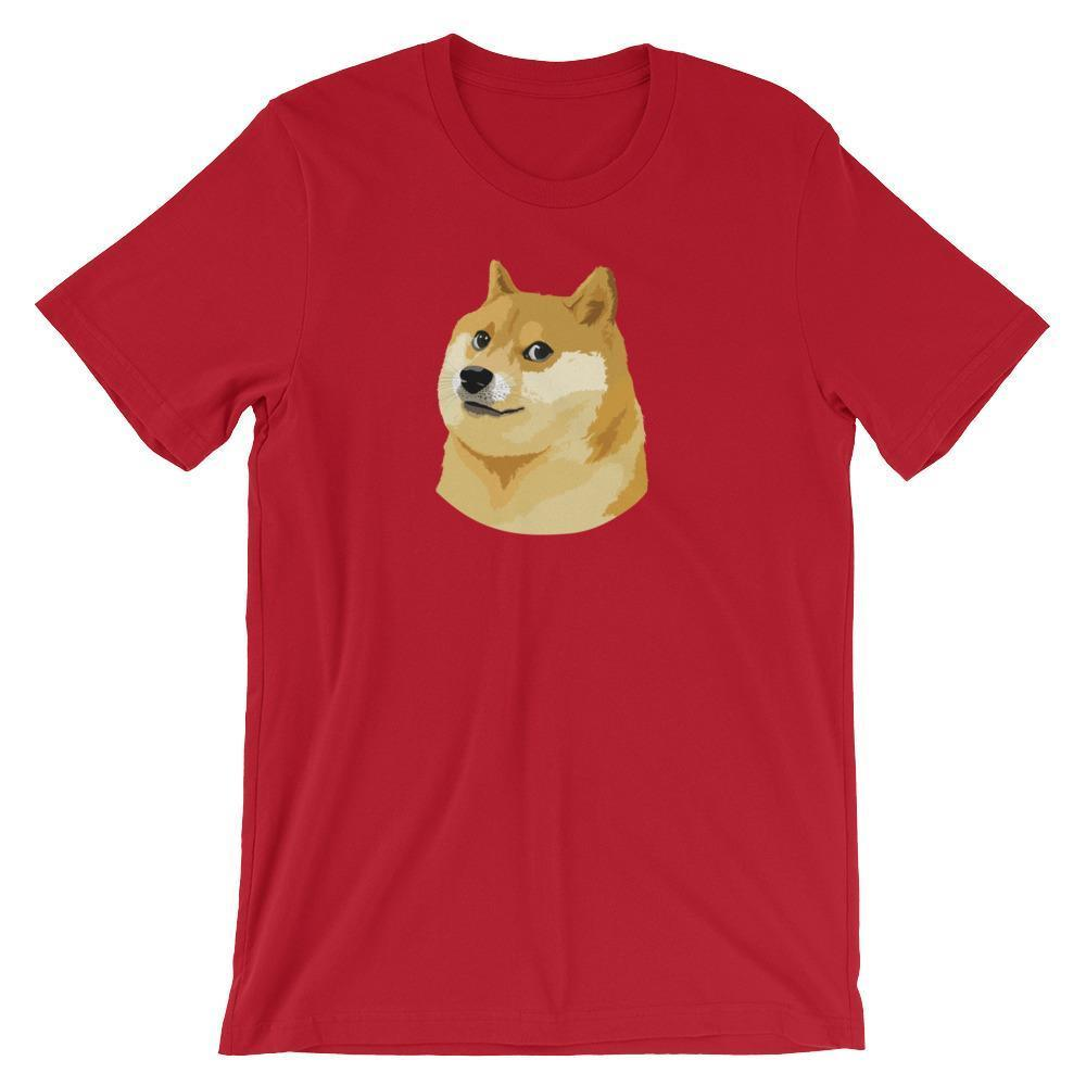 Dogecoin T-Shirt | Unisex-Red-S-CryptoClothe