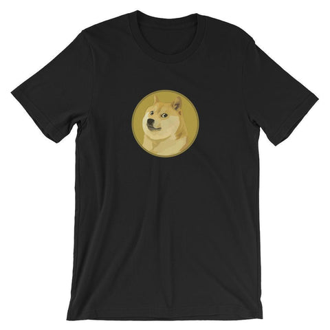 Dogecoin T-Shirt With Logo | Unisex-Black-S-CryptoClothe