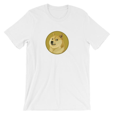 Dogecoin T-Shirt With Logo | Unisex-White-S-CryptoClothe