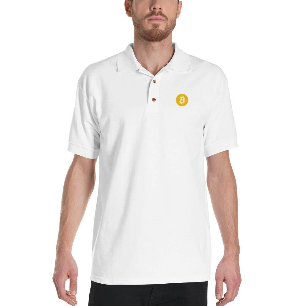 Embroidered Bitcoin Polo Shirt-CryptoClothe