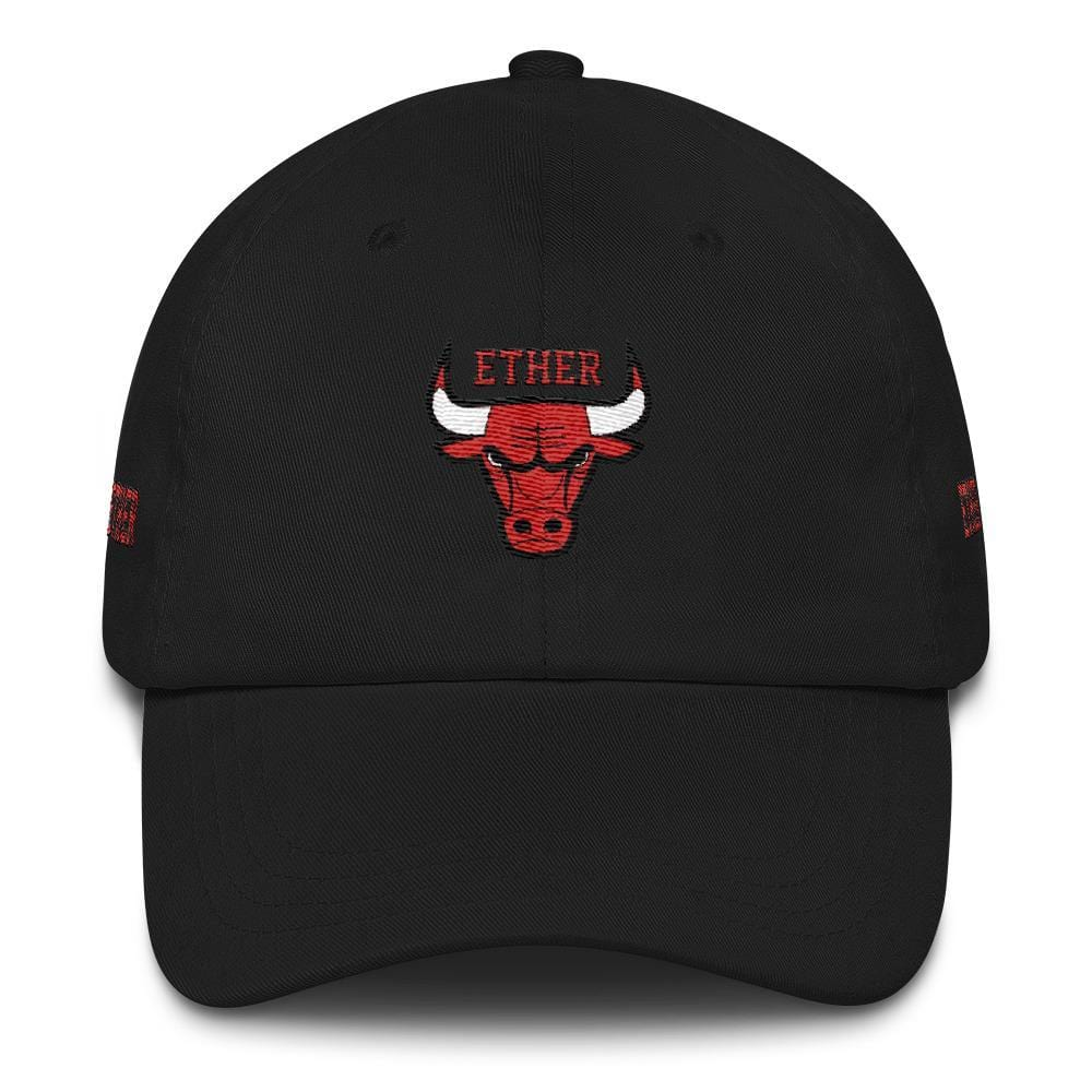 Ether Bulls Dad Hat-Black-CryptoClothe
