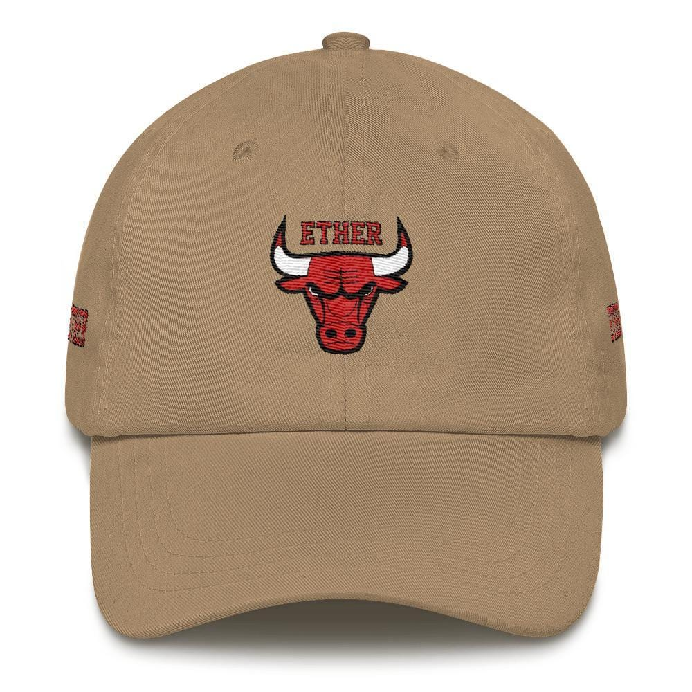 Ether Bulls Dad Hat-Khaki-CryptoClothe