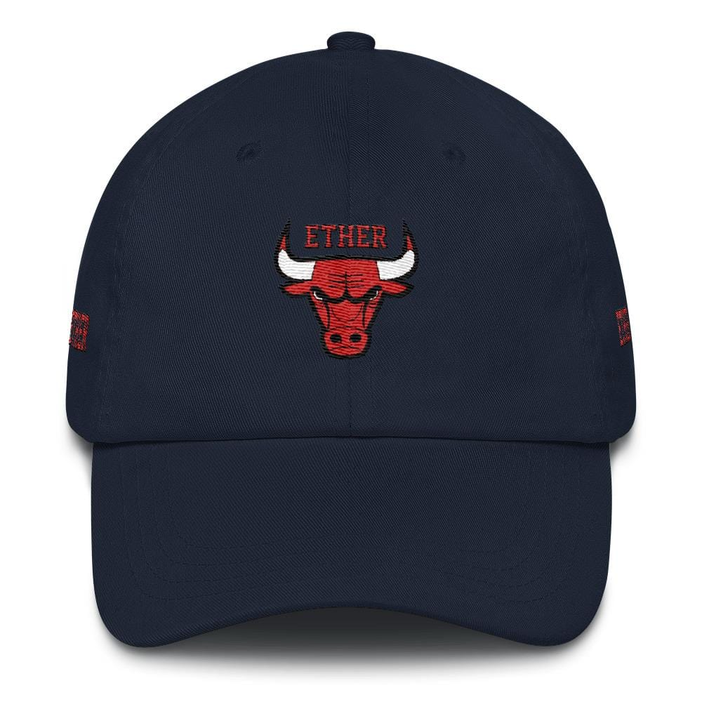 Ether Bulls Dad Hat-Navy-CryptoClothe