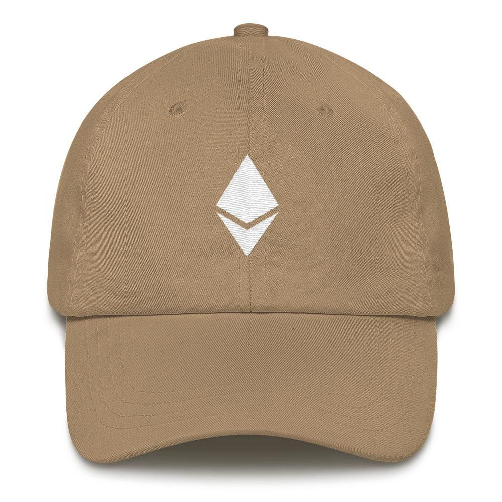 Ethereum Dad Hat-Khaki-CryptoClothe