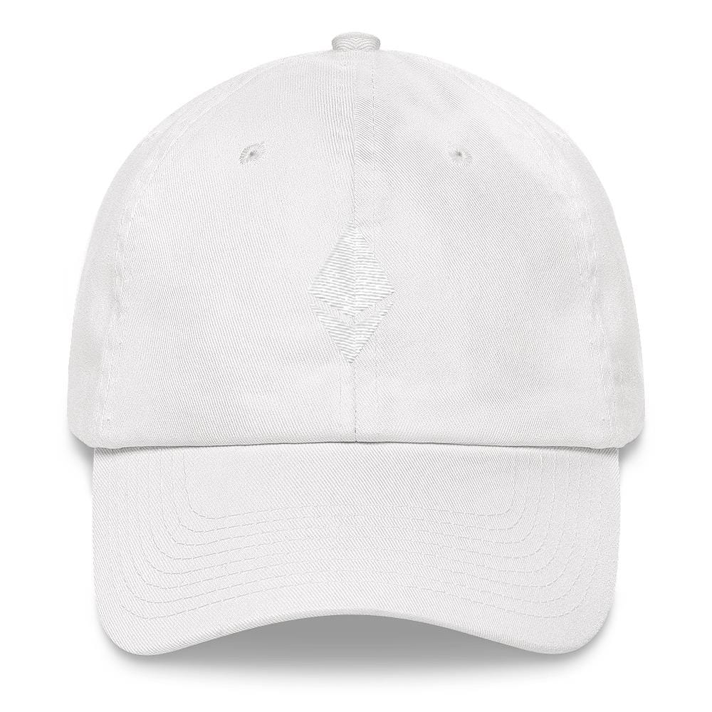 Ethereum Dad Hat-White-CryptoClothe