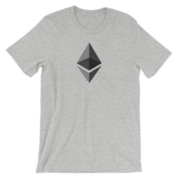 Ethereum Logo T-Shirt | Unisex-Athletic Heather-S-CryptoClothe