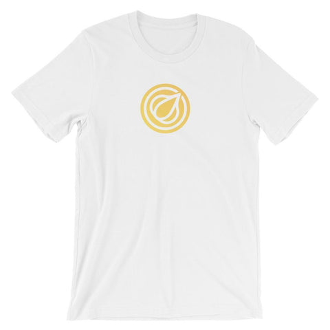 Garlicoin T-Shirt With Logo | Unisex-White-S-CryptoClothe