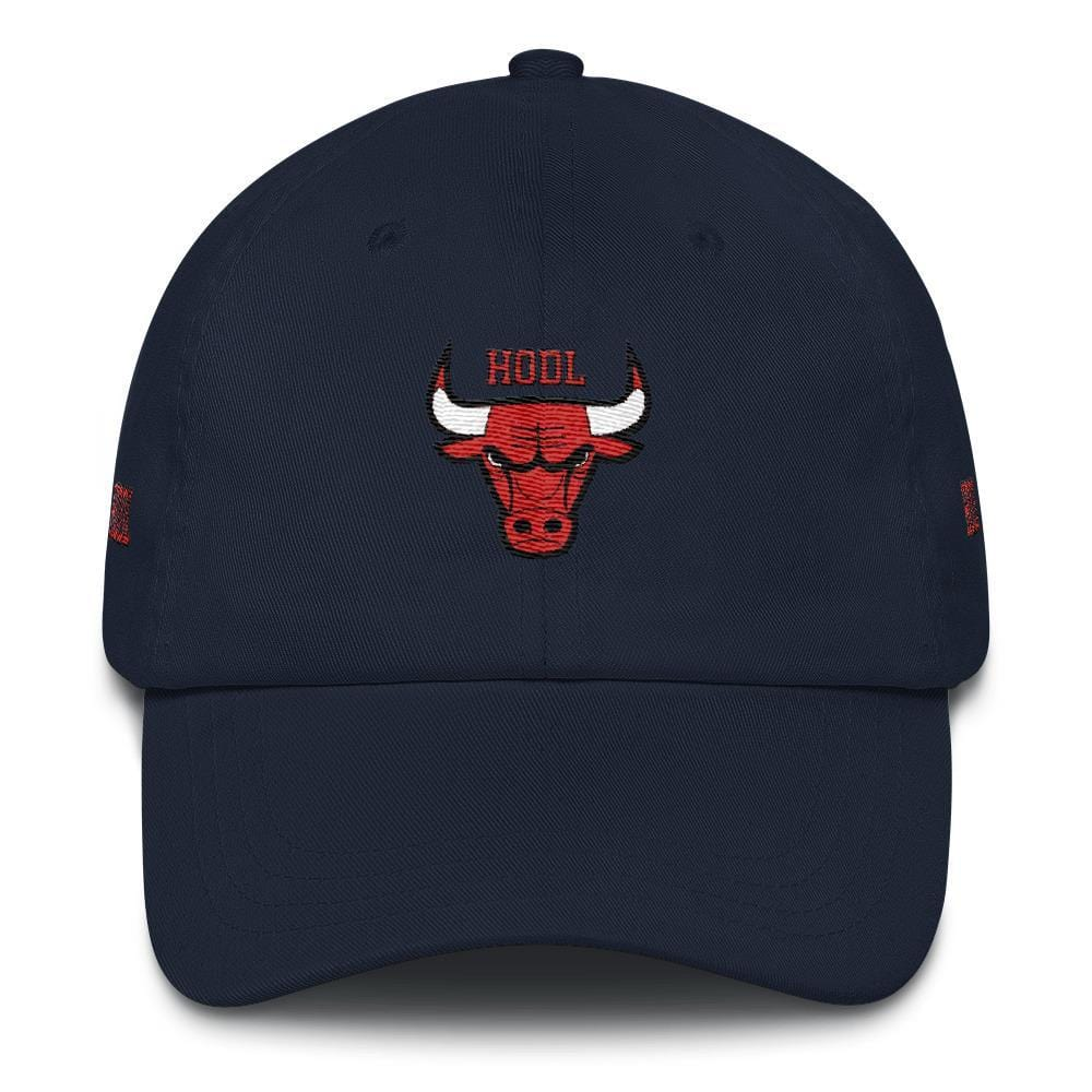 HODL Bulls Dad Hat-Navy-CryptoClothe