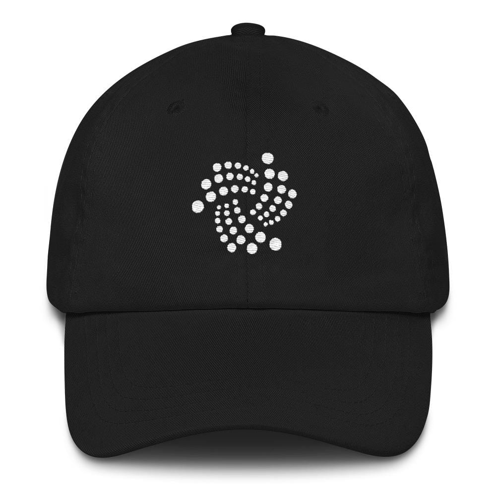 IOTA Dad Hat-Black-CryptoClothe
