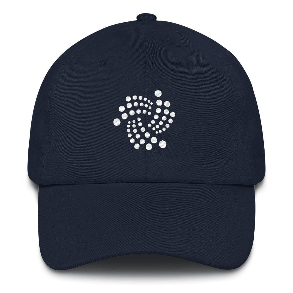IOTA Dad Hat-Navy-CryptoClothe
