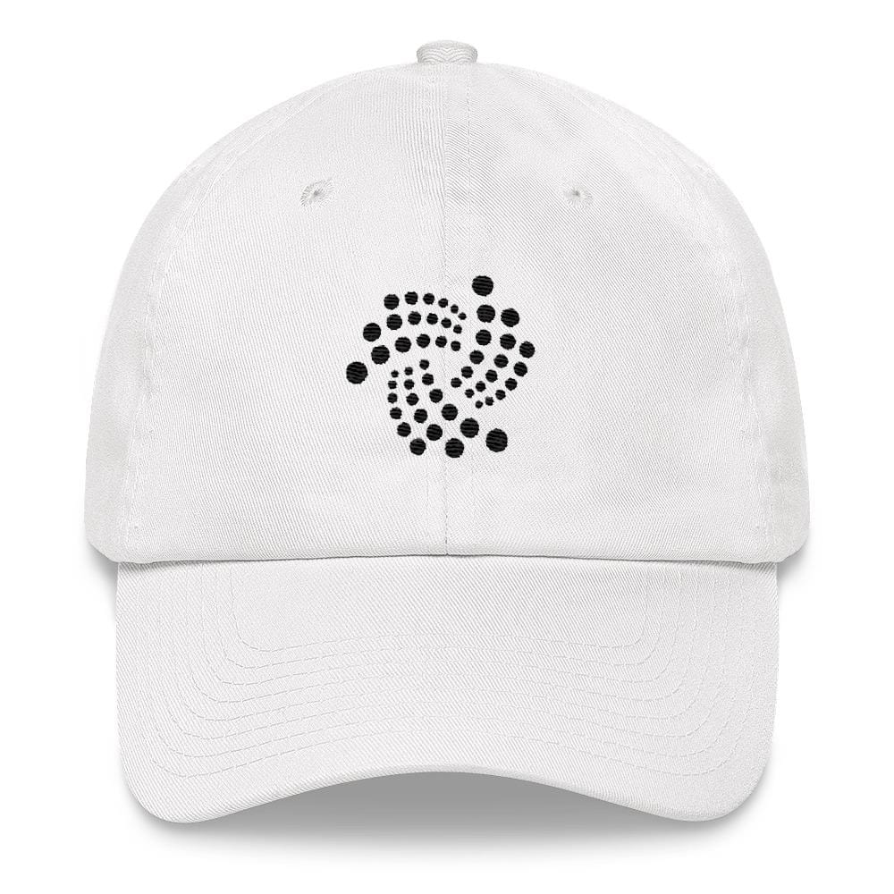 IOTA Dad Hat-White-CryptoClothe