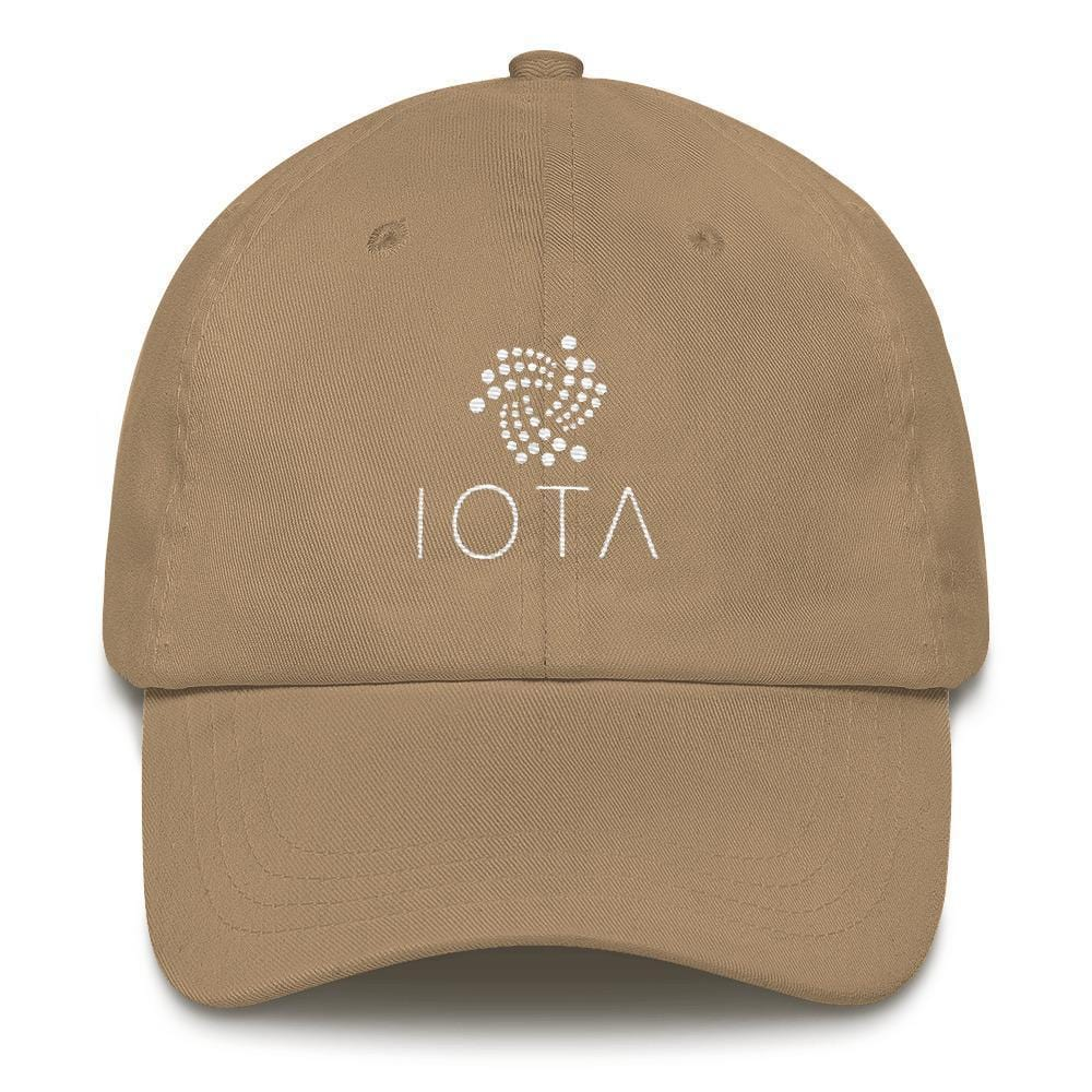 IOTA + Text Dad Hat-Khaki-CryptoClothe