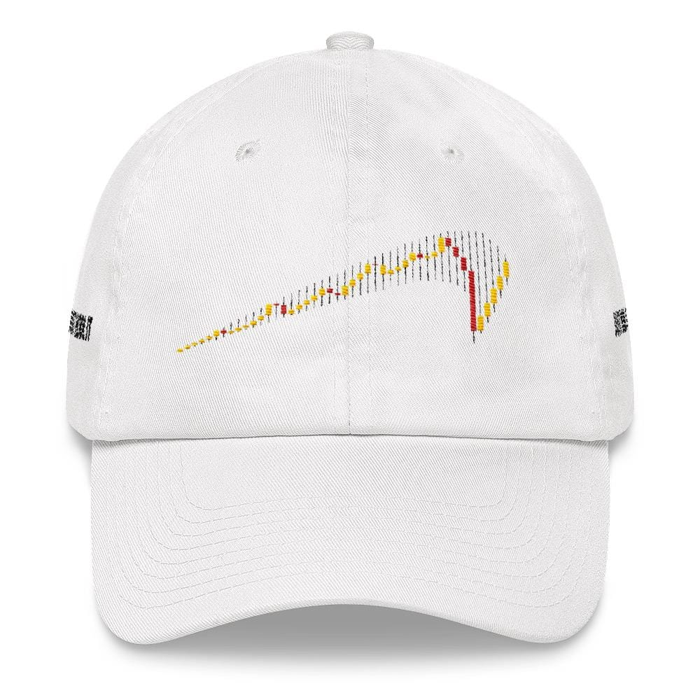 JUST HODL IT Dad Hat-White-CryptoClothe