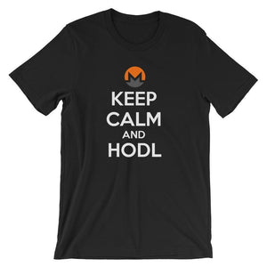 Keep Calm And HODL Monero T-Shirt | Unisex-Black-S-CryptoClothe