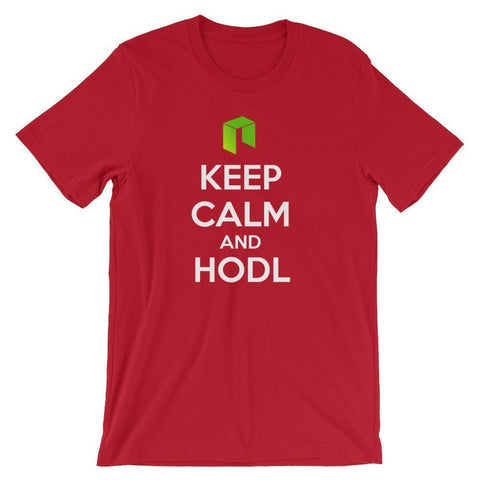 Keep Calm And HODL NEO T-Shirt | Unisex-Red-S-CryptoClothe