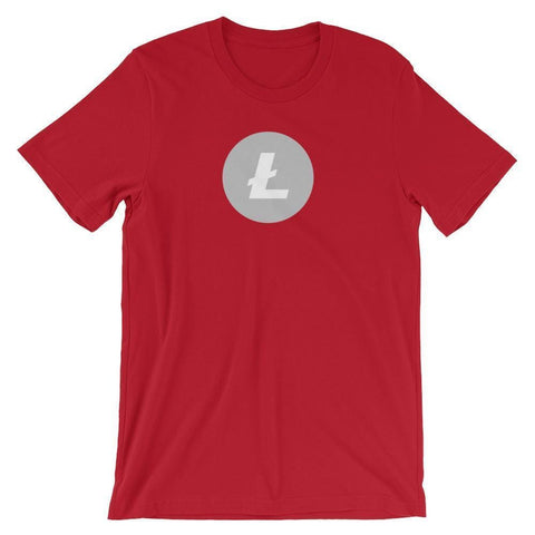 Litecoin Logo T-Shirt | Unisex-Red-S-CryptoClothe