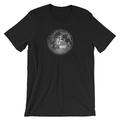 Litecoin Moon T-Shirt | Unisex-Black-S-CryptoClothe