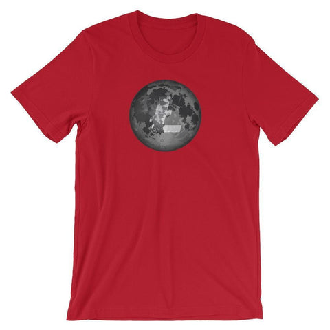 Litecoin Moon T-Shirt | Unisex-Red-S-CryptoClothe