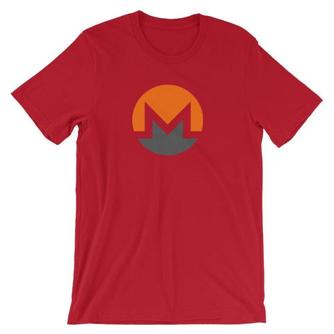 Monero Logo T-Shirt | Unisex-Red-S-CryptoClothe