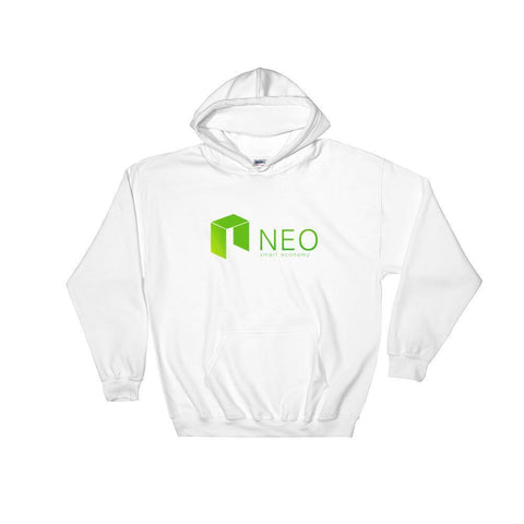 NEO Hoodie With Logo-White-S-CryptoClothe