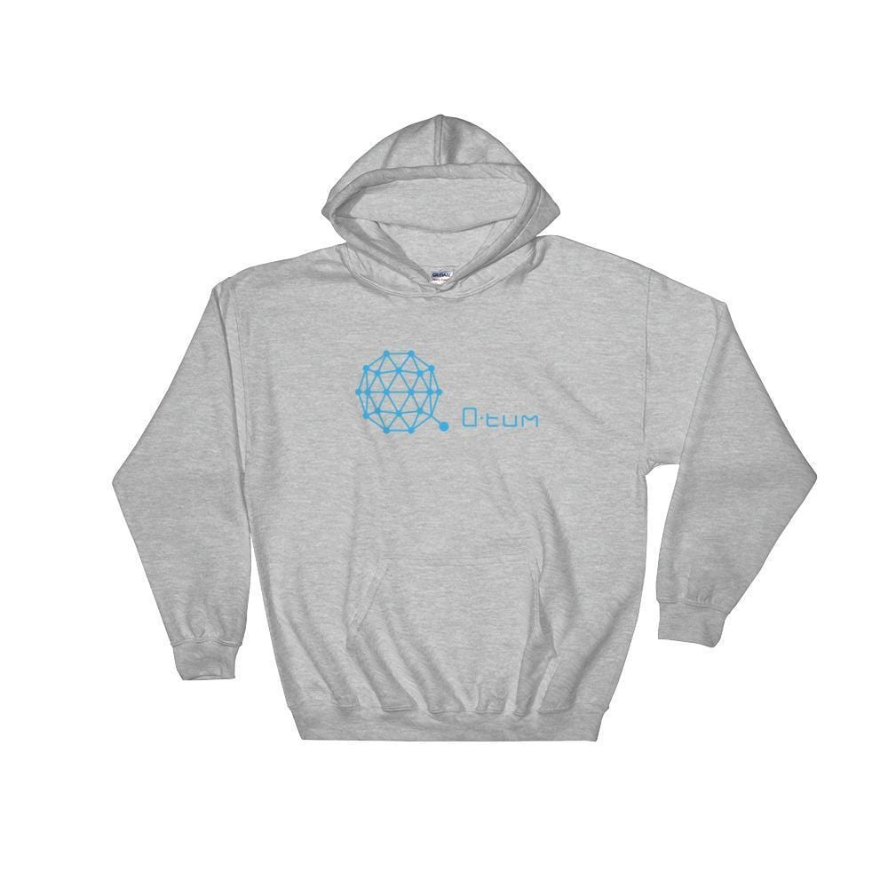Qtum Hoodie With Logo And Text-Sport Grey-S-CryptoClothe