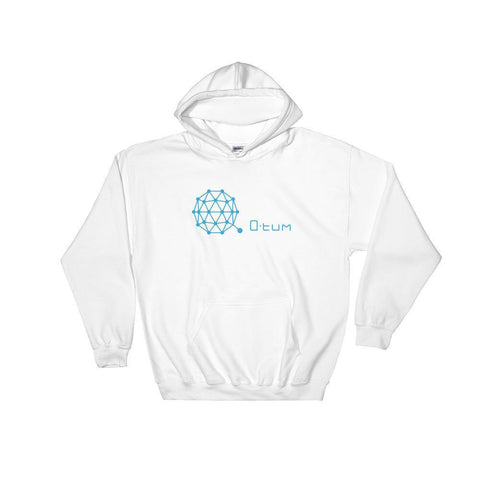 Qtum Hoodie With Logo And Text-White-S-CryptoClothe