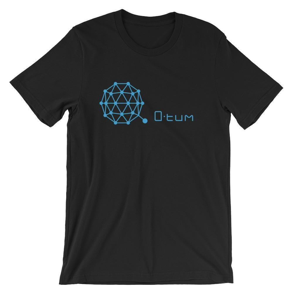 Qtum Logo + Text T-Shirt | Unisex-Black-S-CryptoClothe