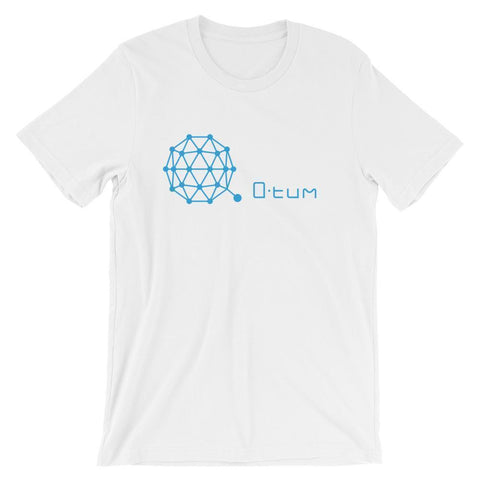 Qtum Logo + Text T-Shirt | Unisex-White-S-CryptoClothe