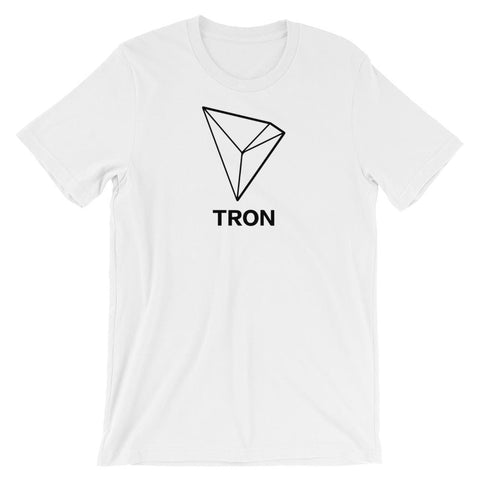 Tron T-Shirt With Logo | Unisex-White-S-CryptoClothe