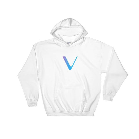 VeChain Hoodie With Logo-White-S-CryptoClothe