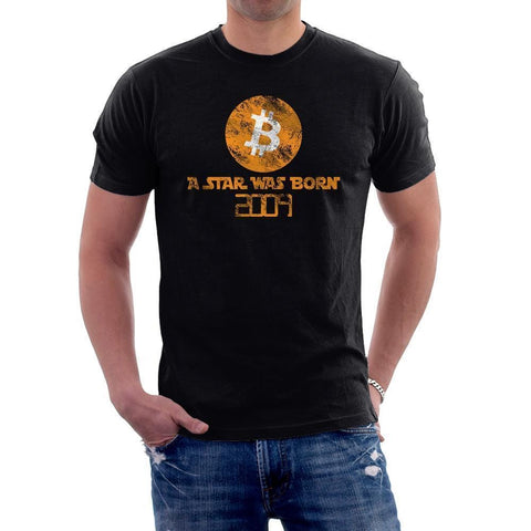 Vintage A Star Was Born Bitcoin T-Shirt-Black-S-CryptoClothe
