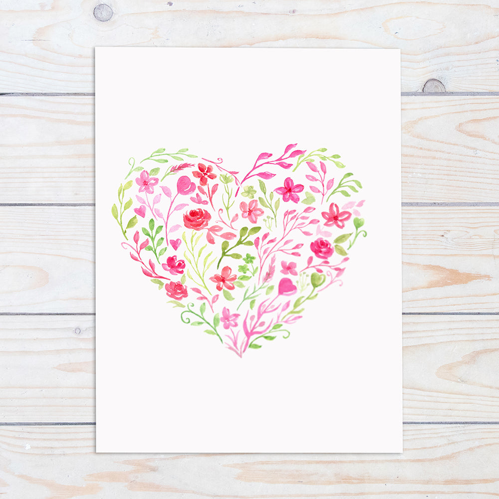 Valentine Floral Heart For Free Download