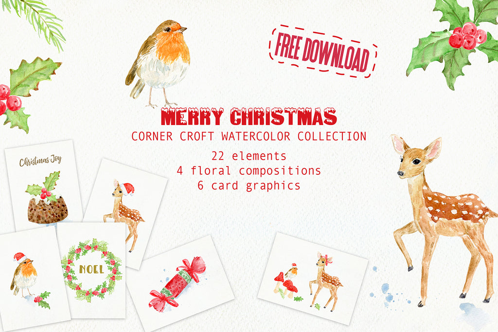 Free Download Christmas Illustration