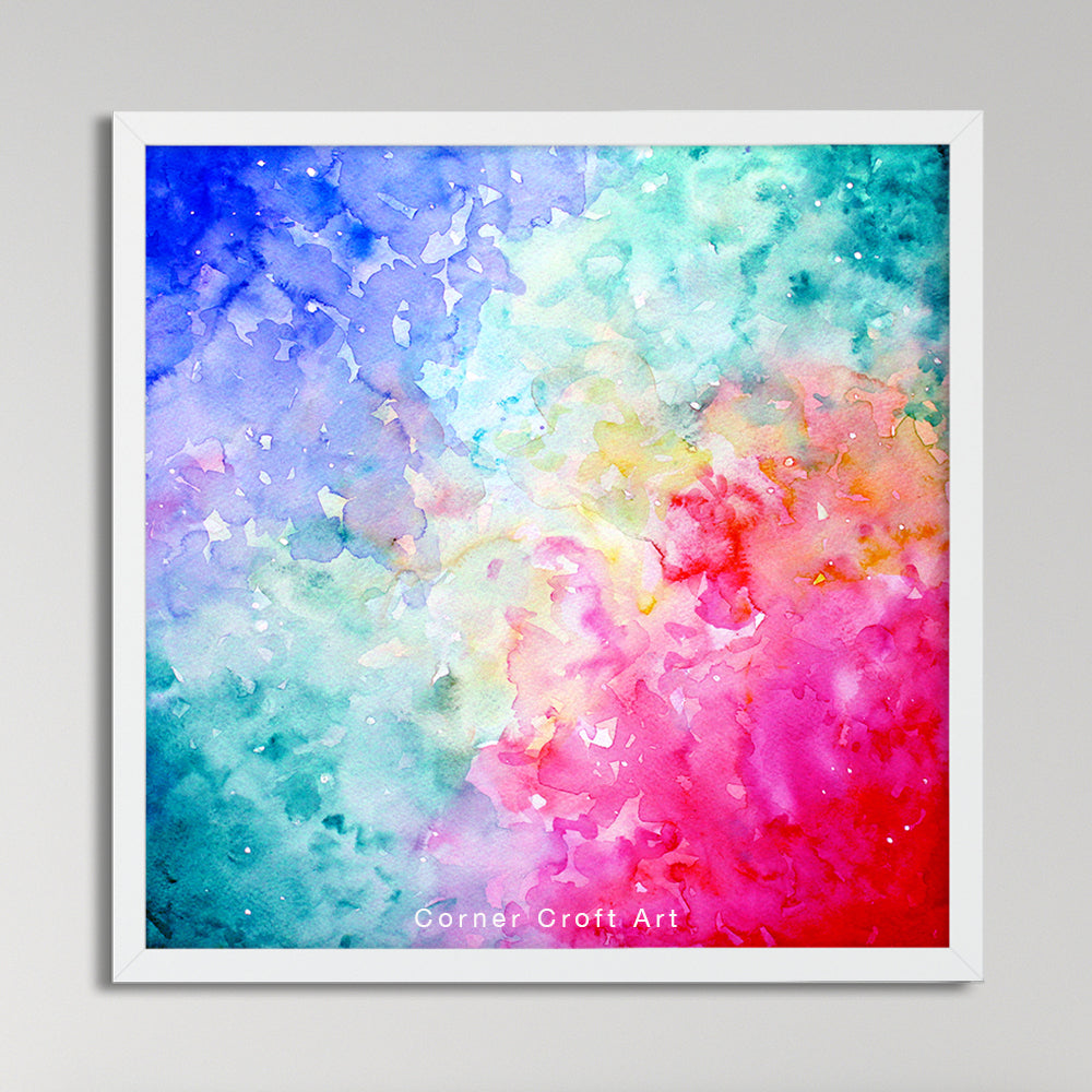watercolor abstract sky, digital print, instant download