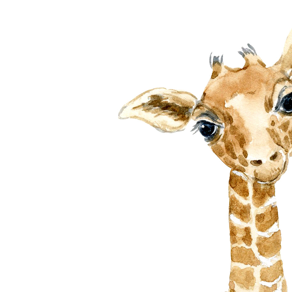 watercolor giraffe illustration, watercolor print, instant download, nursery print, wildlife